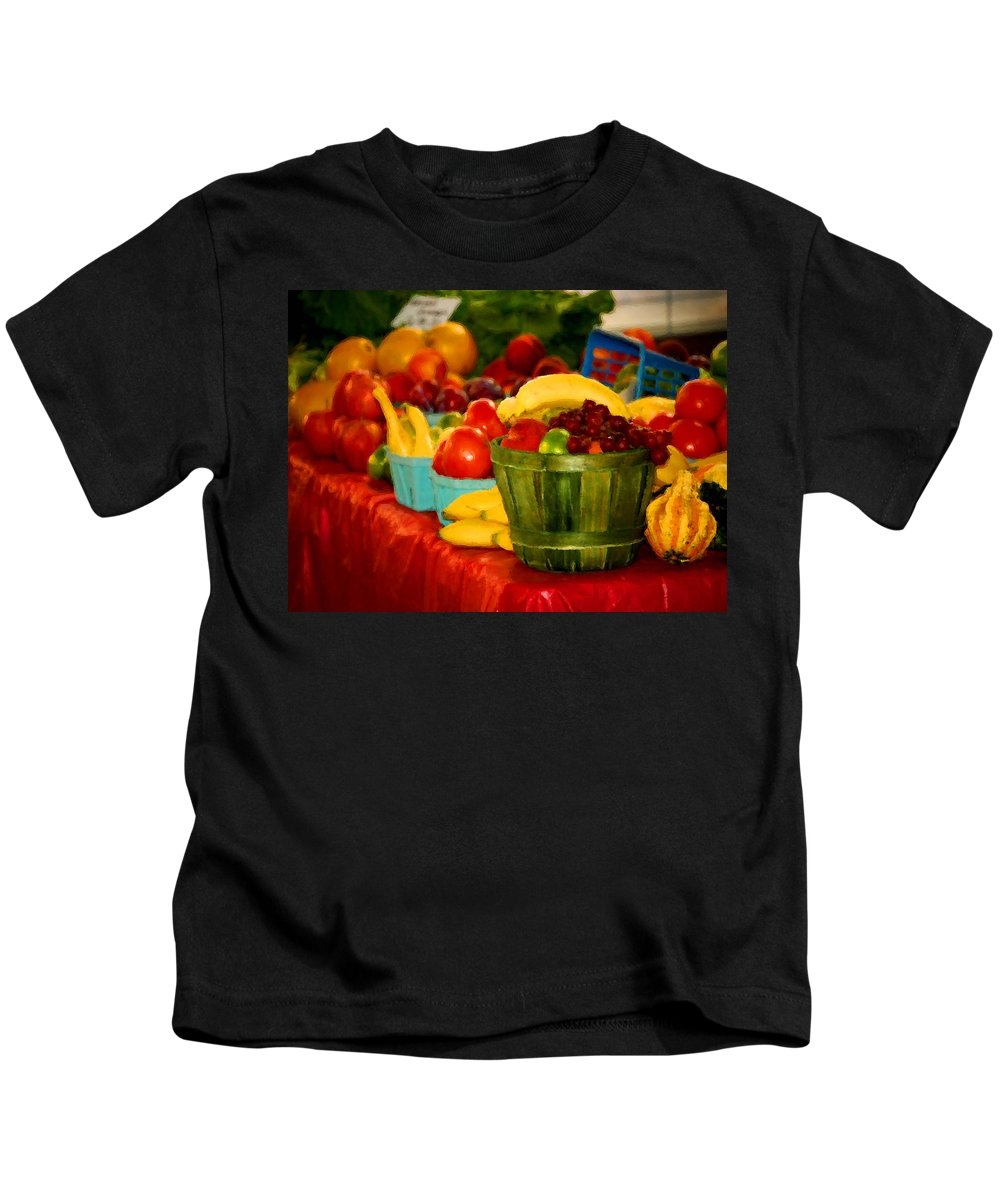 Tractors Kids T-Shirt featuring the digital art Colors Of Alabama by Michael Thomas