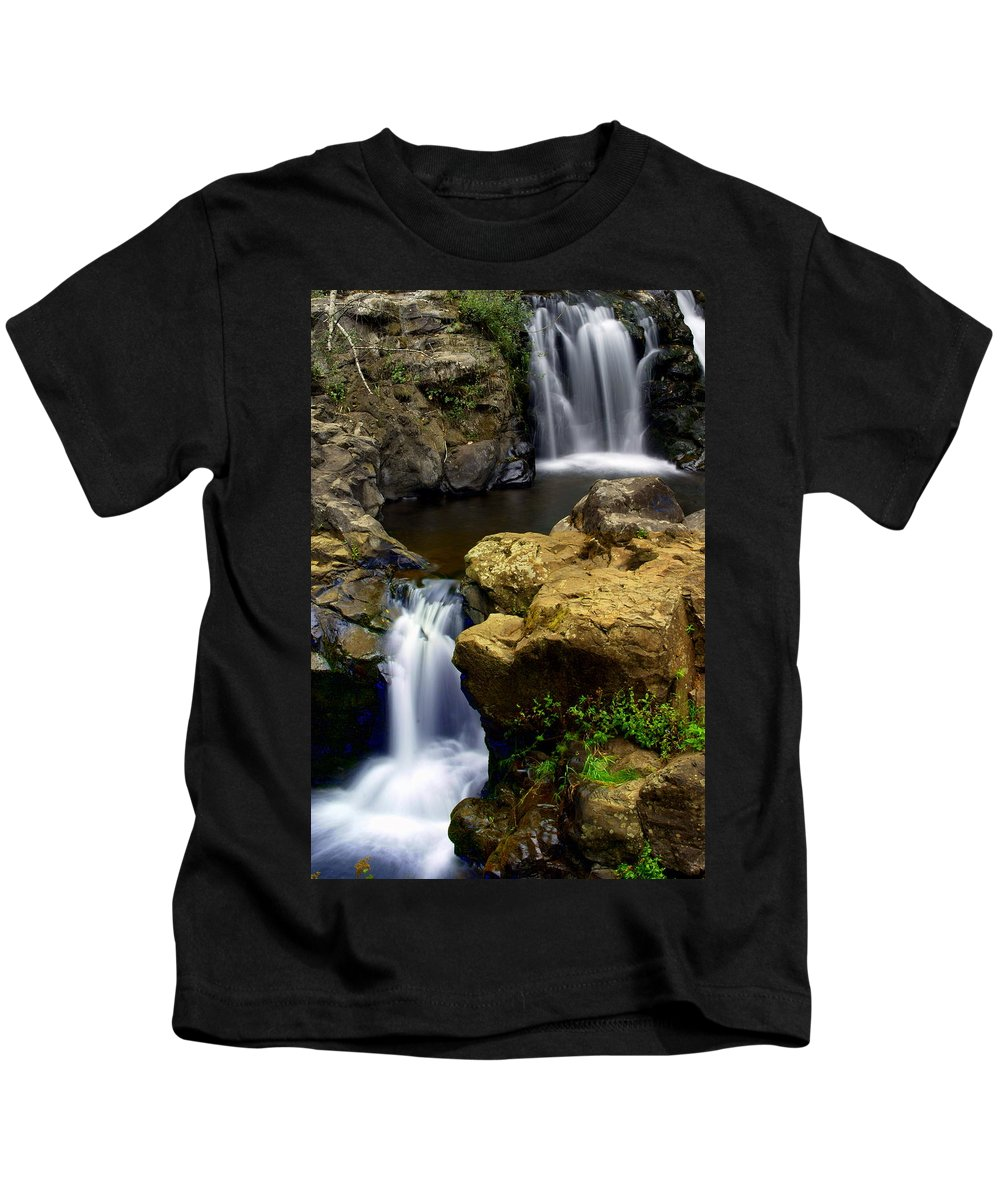 Waterfall Kids T-Shirt featuring the photograph Columba River Gorge Falls 2 by Marty Koch