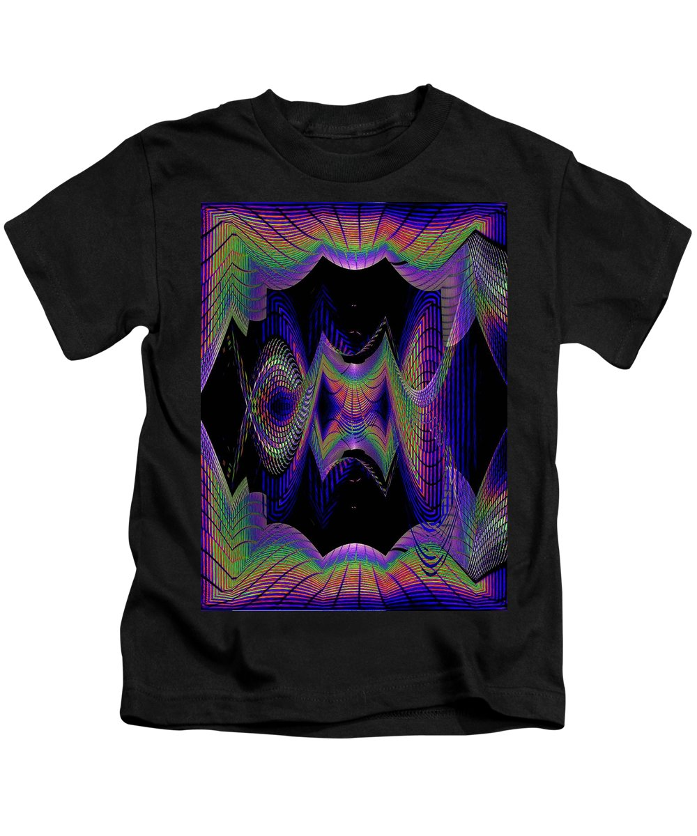 Seattle Kids T-Shirt featuring the digital art Columbia Tower Vortex 2 by Tim Allen