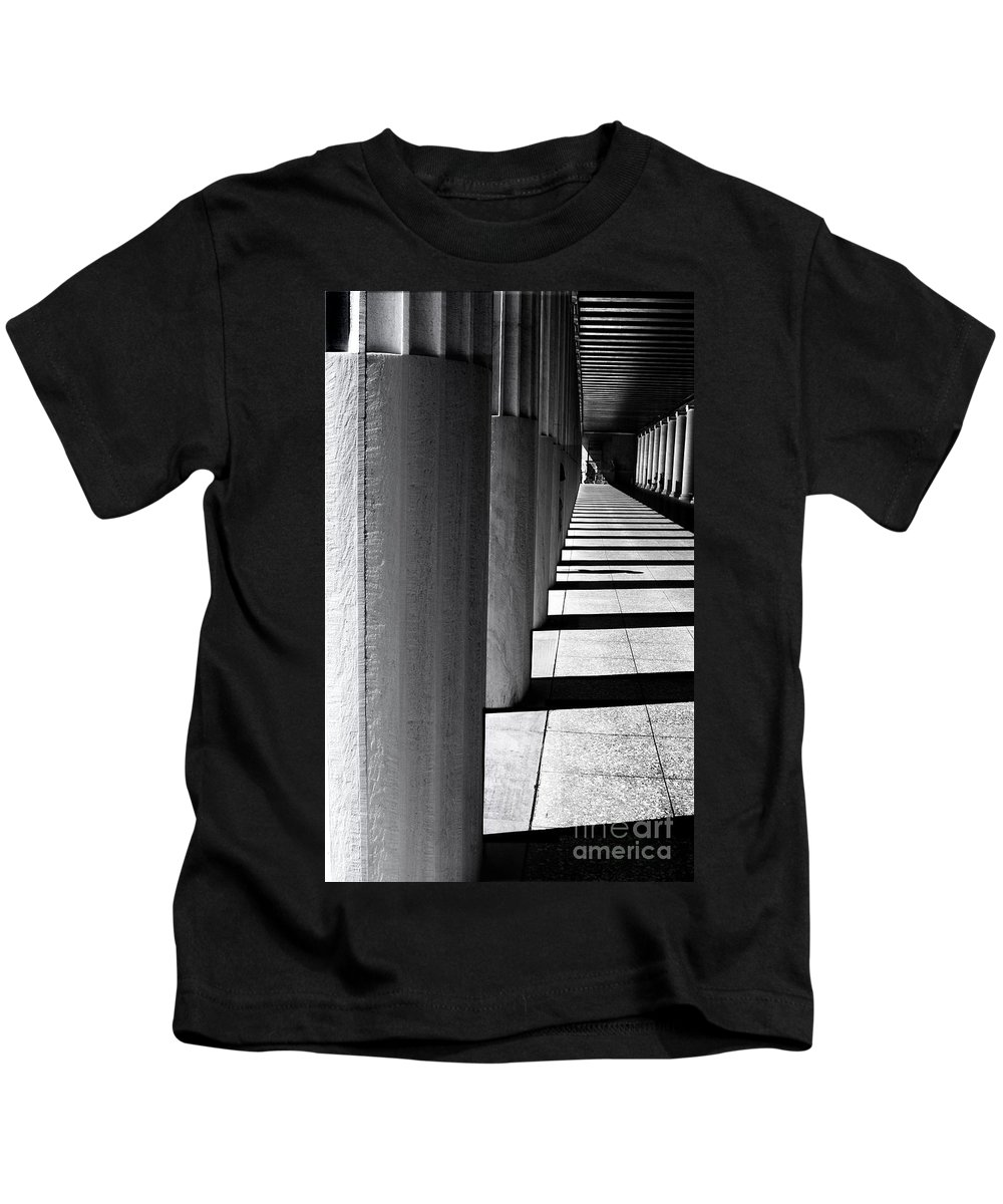 Columns Kids T-Shirt featuring the photograph Columns In Athens by Madeline Ellis