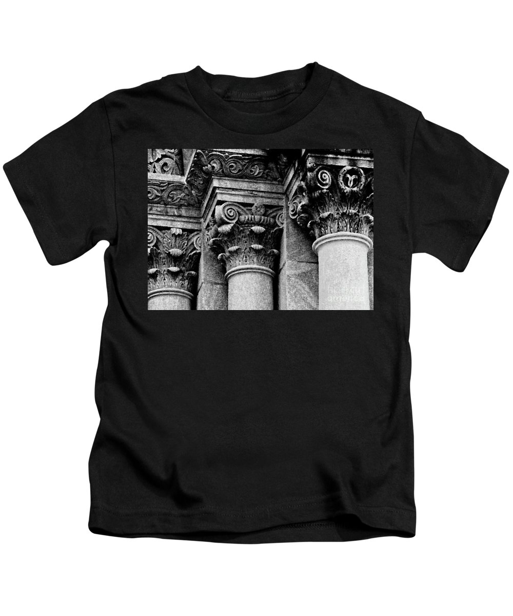 Columns Kids T-Shirt featuring the photograph Columns Of St. Roch Church Watercolor by Kathleen K Parker