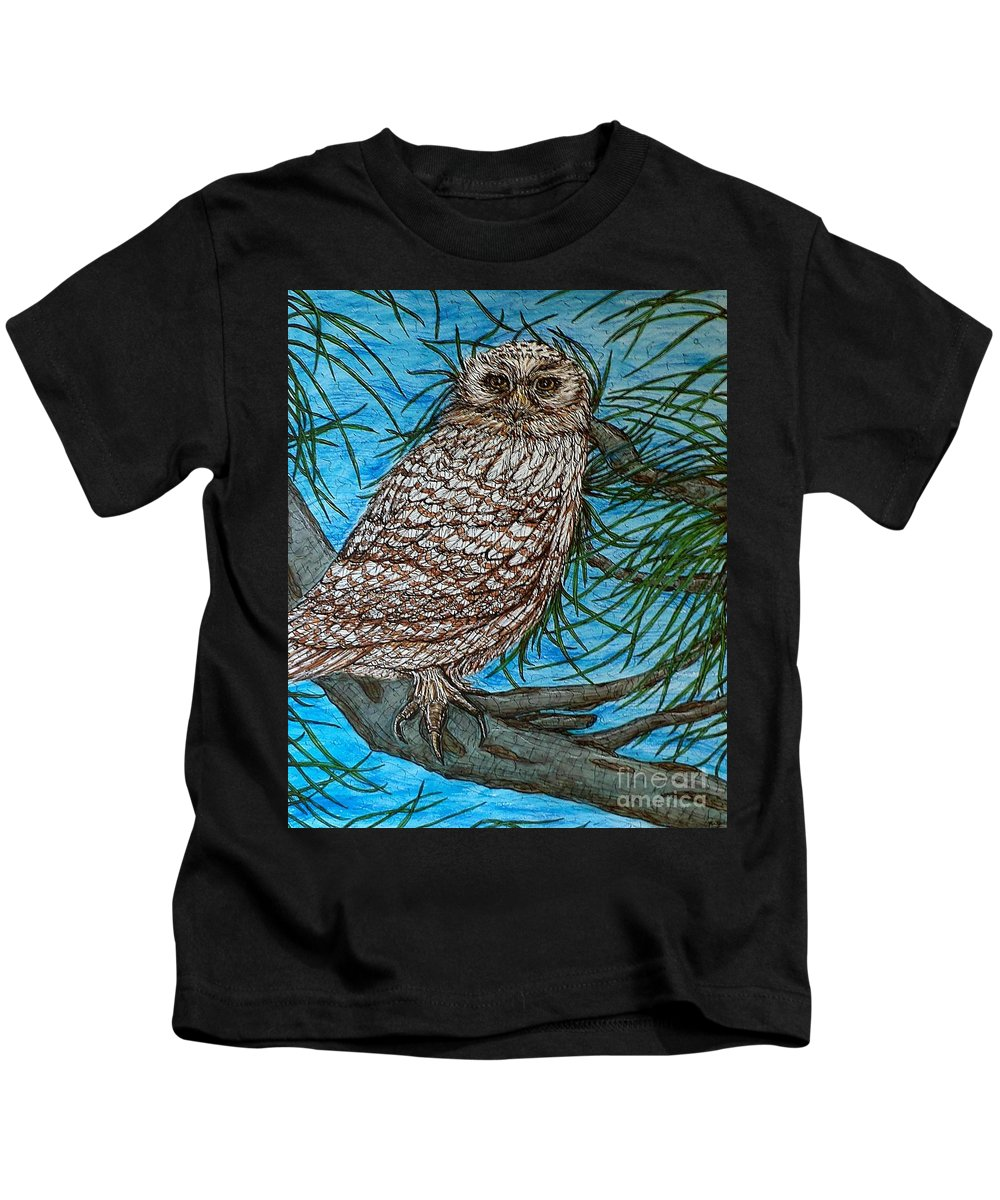 Animals Kids T-Shirt featuring the painting Coming Into Her Wisdom by Kim Jones