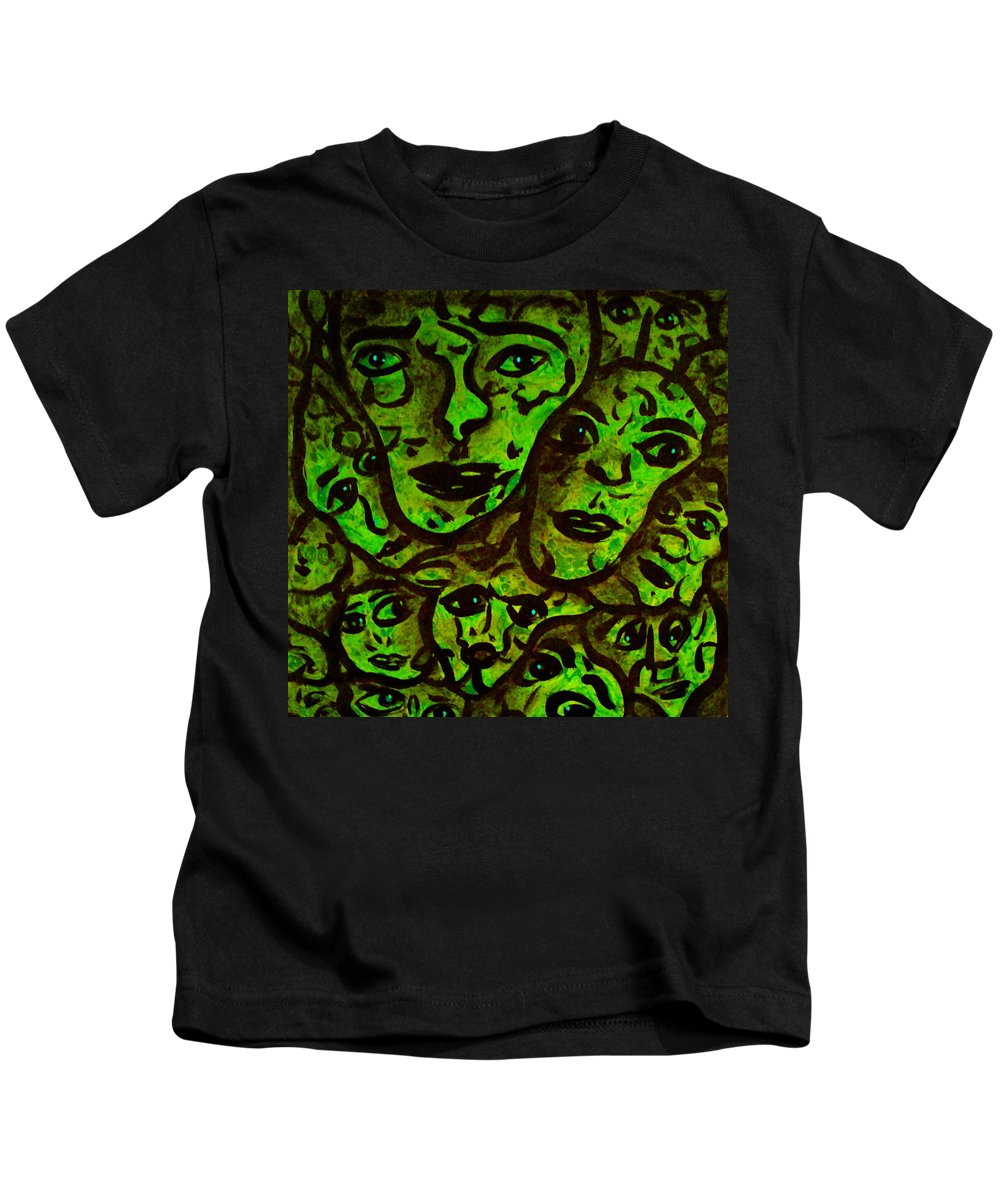 Expressionism Kids T-Shirt featuring the mixed media Compressed by Natalie Holland