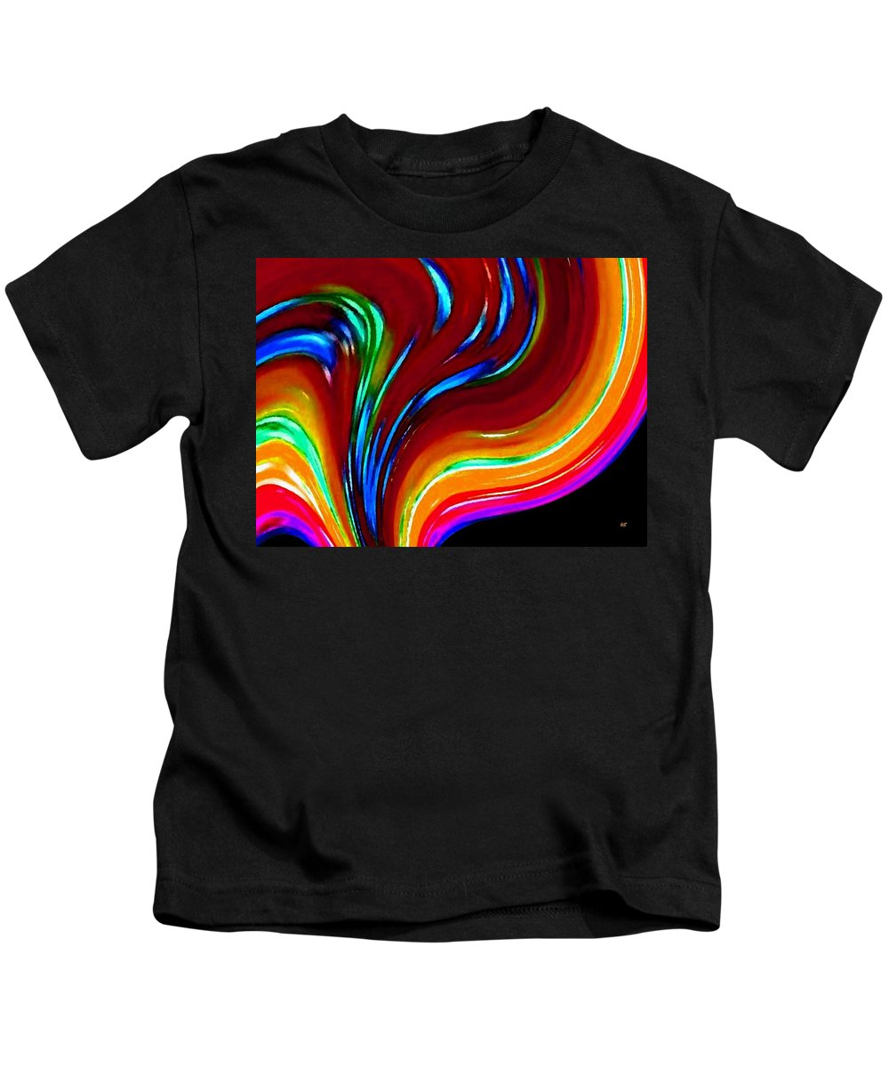 Abstract Kids T-Shirt featuring the digital art Conceptual 10 by Will Borden