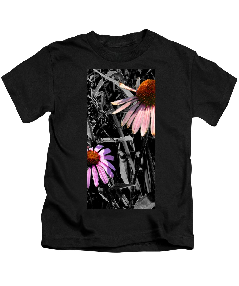 Purple Cone Flower Kids T-Shirt featuring the photograph Cone Flower Tapestry by Steve Karol