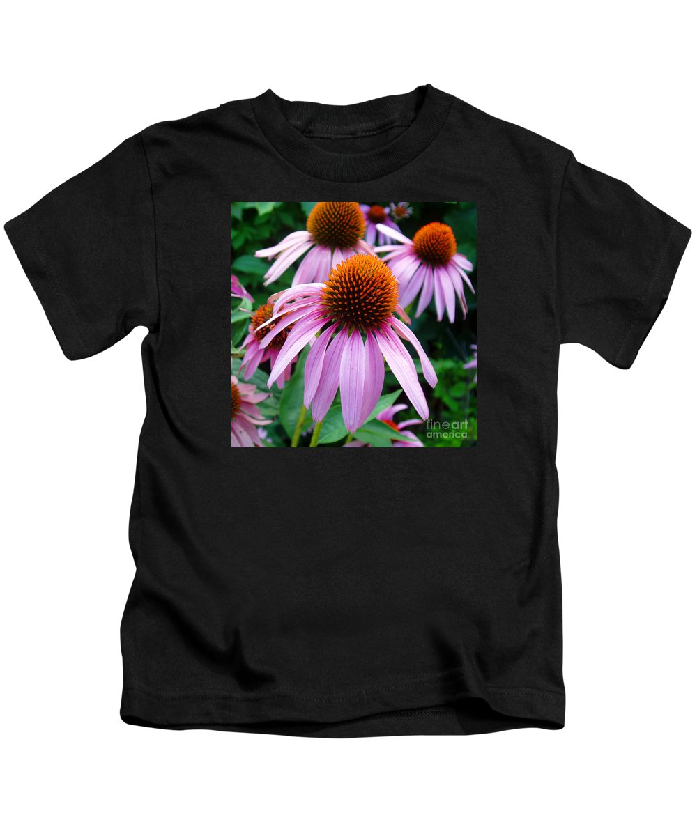 Coneflowers Kids T-Shirt featuring the photograph Three Coneflowers by Nancy Mueller