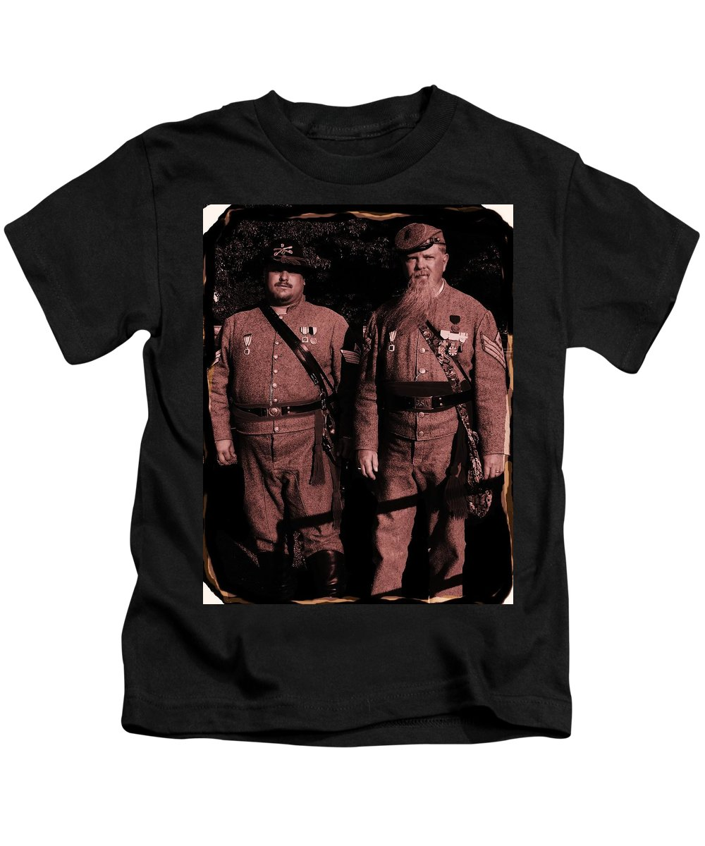 Tintype Kids T-Shirt featuring the photograph Confederate Tintype Civil War by Eric Schiabor