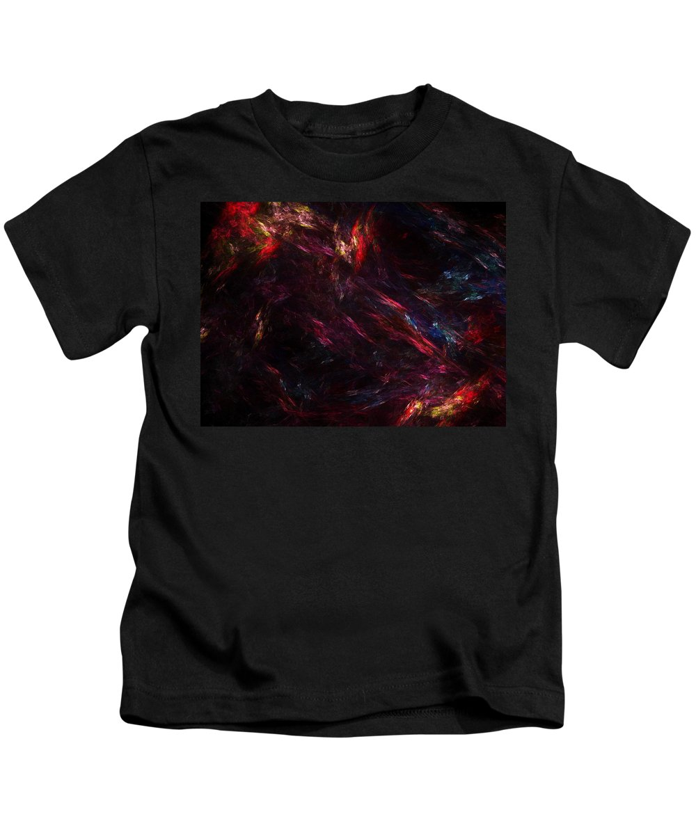 Abstract Digital Painting Kids T-Shirt featuring the digital art Conflict by David Lane