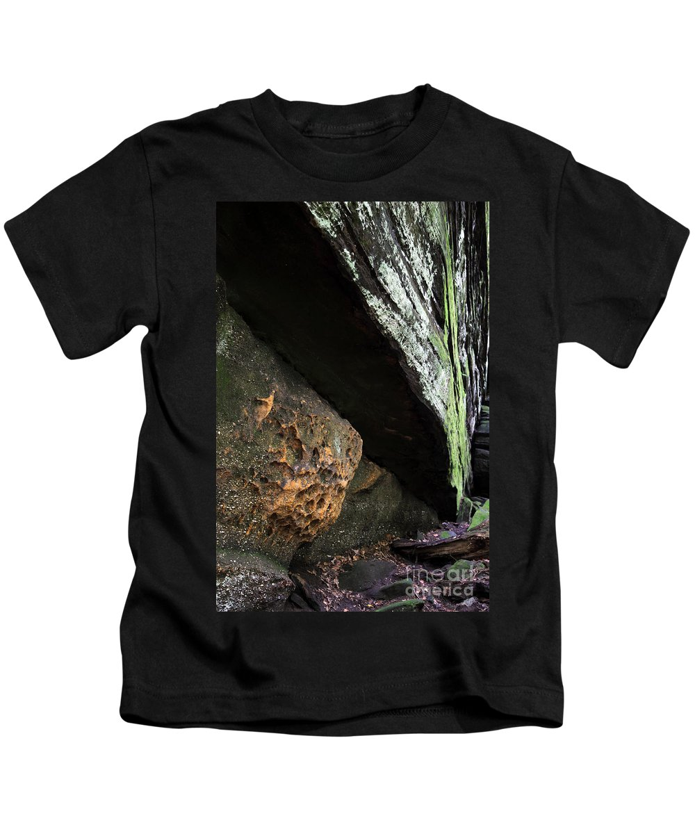 Rocks Kids T-Shirt featuring the photograph Convergence by Amanda Barcon