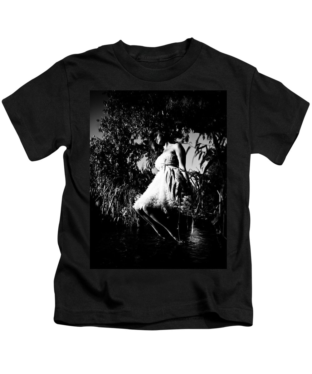 Woman Sitting On Tree Kids T-Shirt featuring the photograph Cooling Off by Scott Sawyer