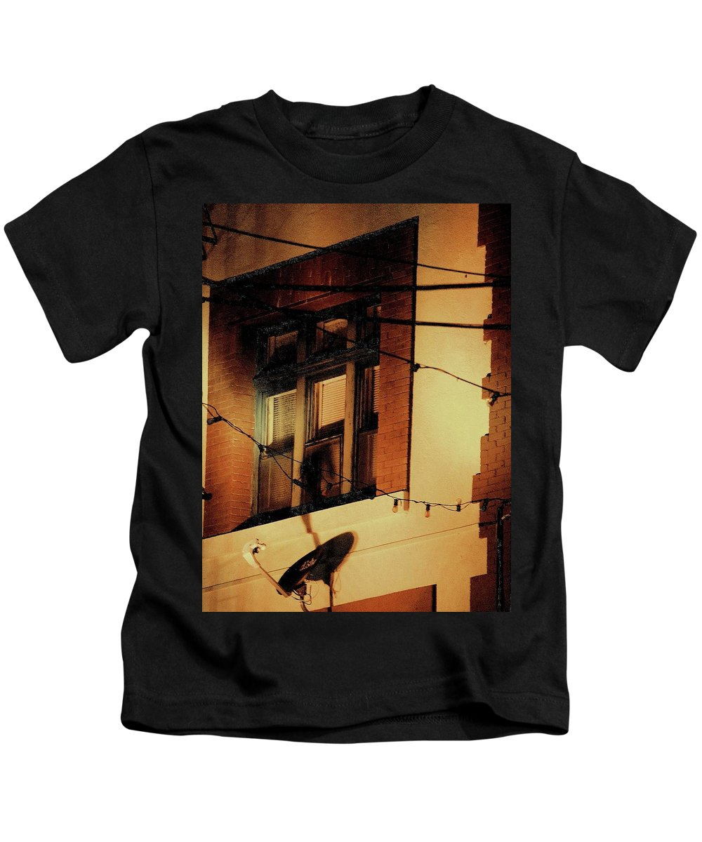 Night Scenes Kids T-Shirt featuring the photograph Copper Queen Night - Bisbee by Bradford Turner
