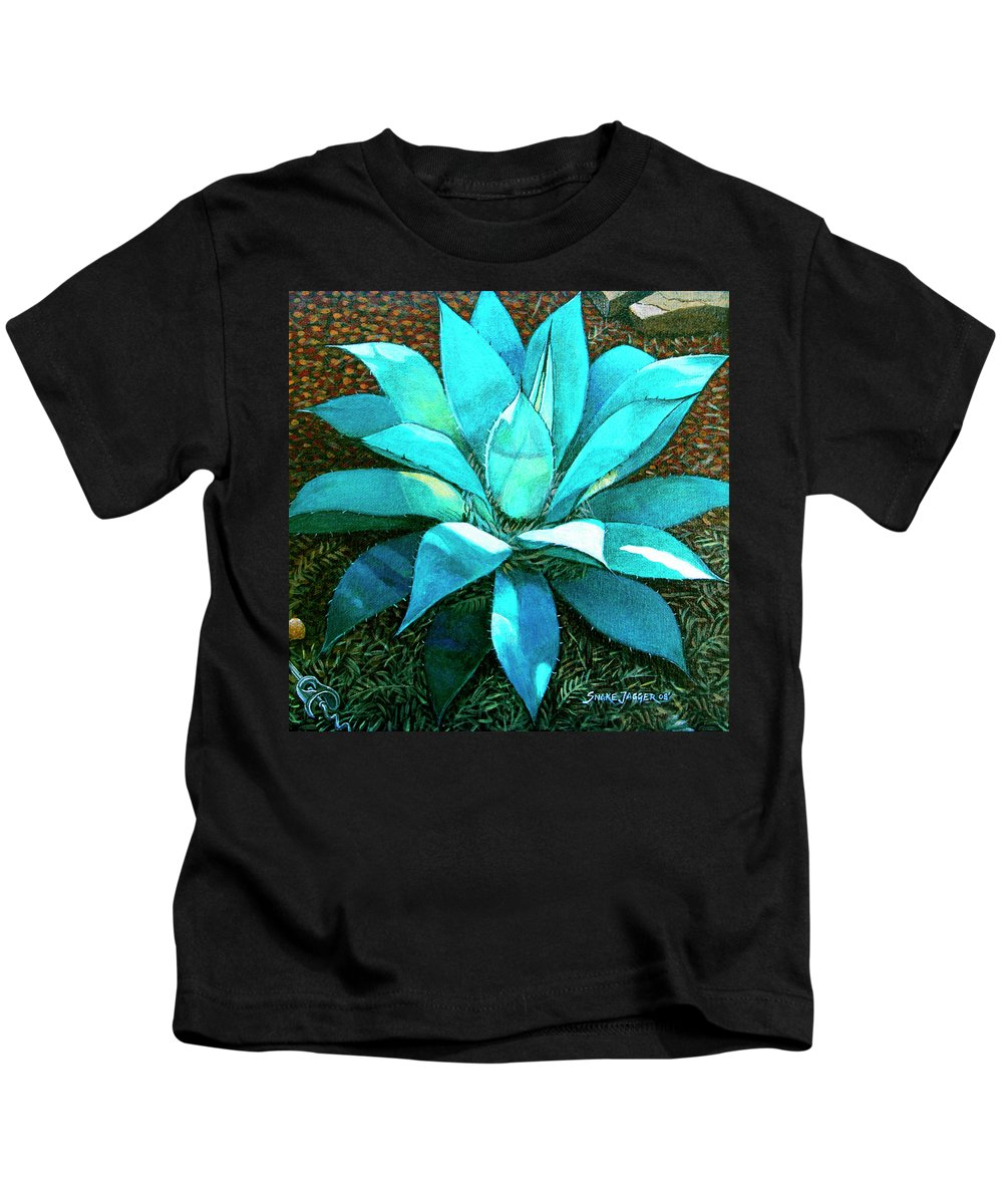 Cactus Kids T-Shirt featuring the painting Corkscrew by Snake Jagger