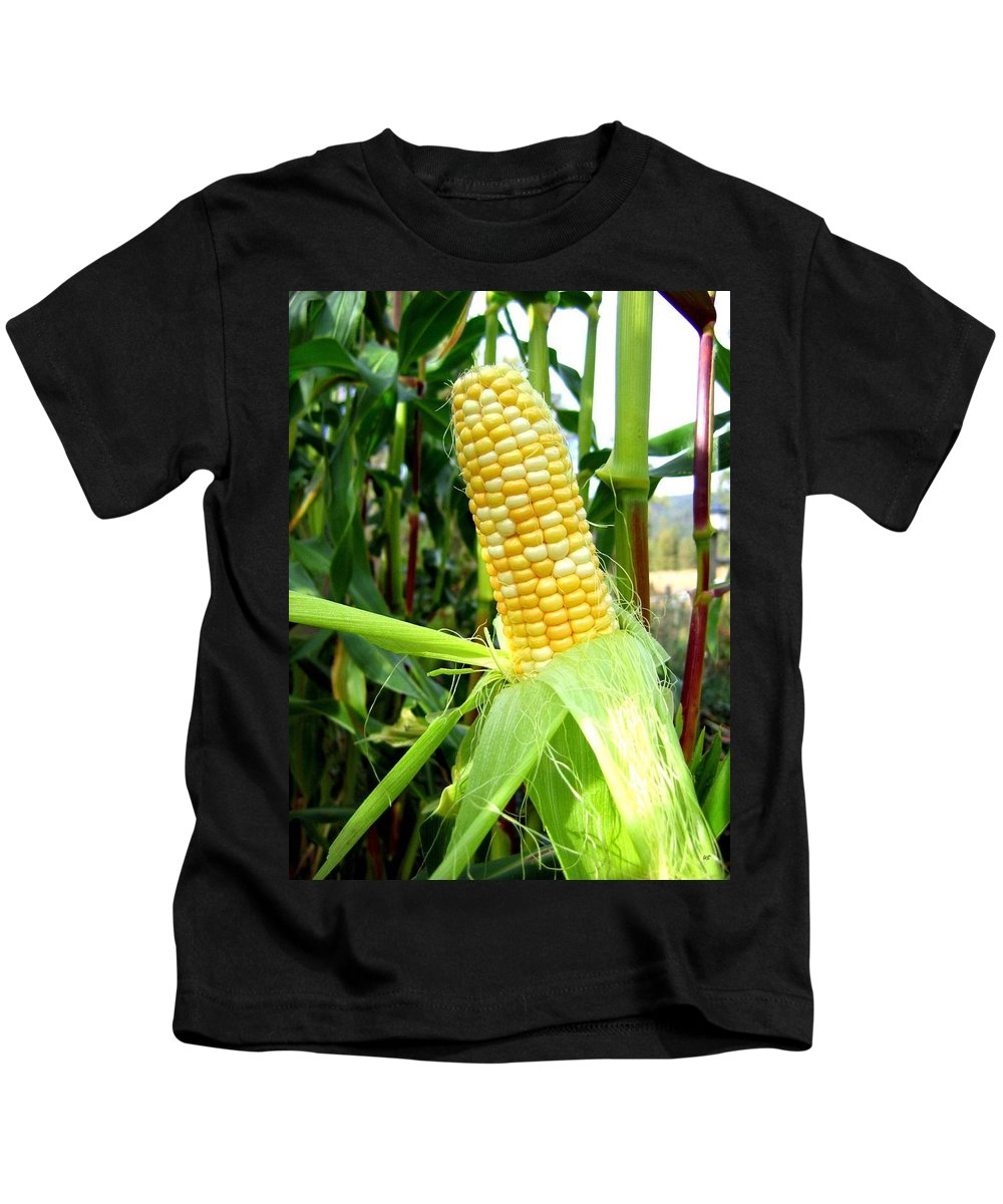 Corn Kids T-Shirt featuring the photograph Corn On The Cob by Will Borden