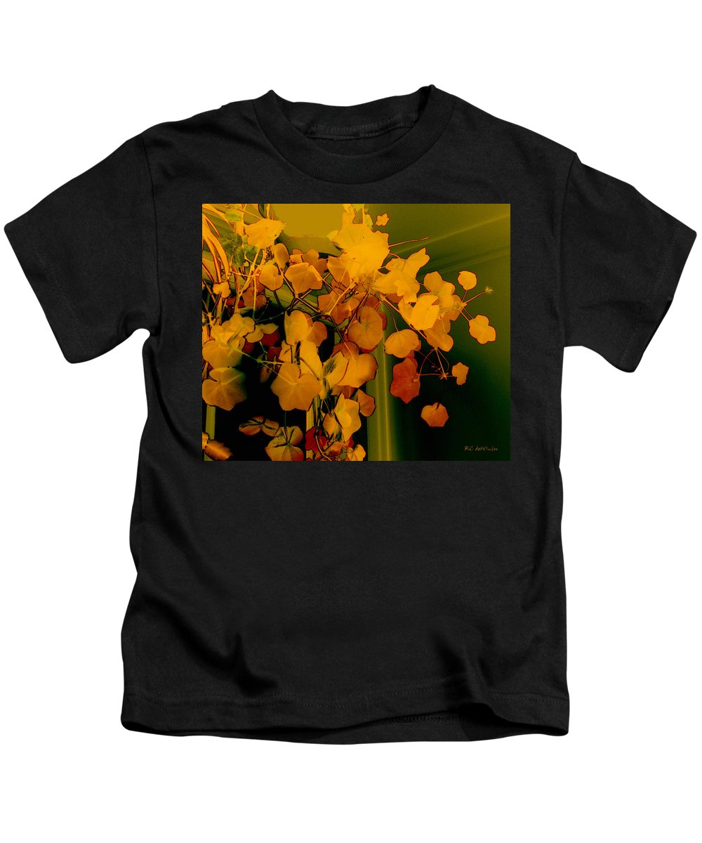 Autumn Kids T-Shirt featuring the digital art Corner In Green And Gold by RC DeWinter