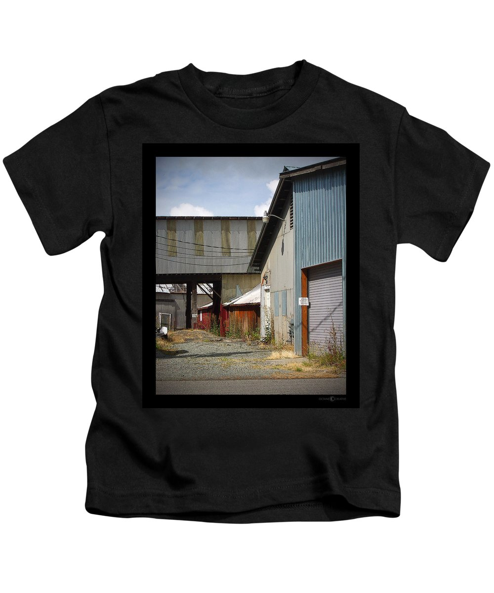 Corrugated Kids T-Shirt featuring the photograph Corrugated by Tim Nyberg