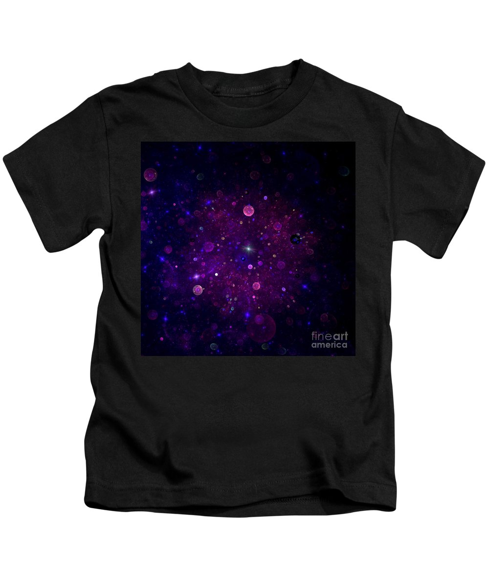 Abstract Kids T-Shirt featuring the digital art Cosmic Wonders by Steve K