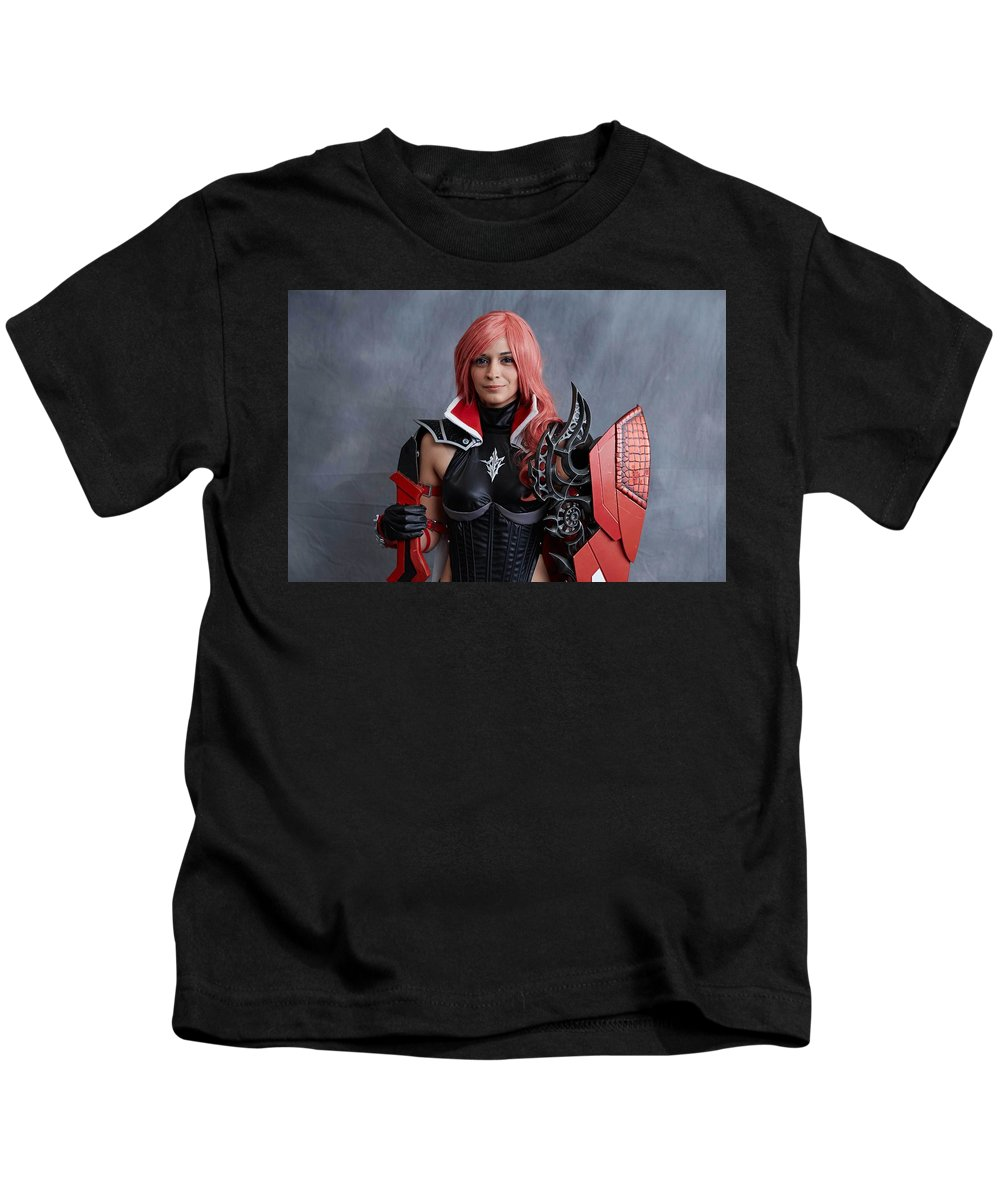 Cosplay Kids T-Shirt featuring the digital art Cosplay by Dorothy Binder