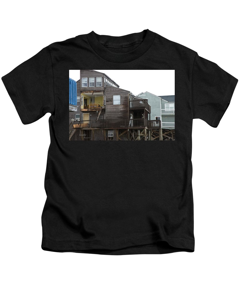 Topsail Kids T-Shirt featuring the photograph Cottages Of The Past by Betsy Knapp