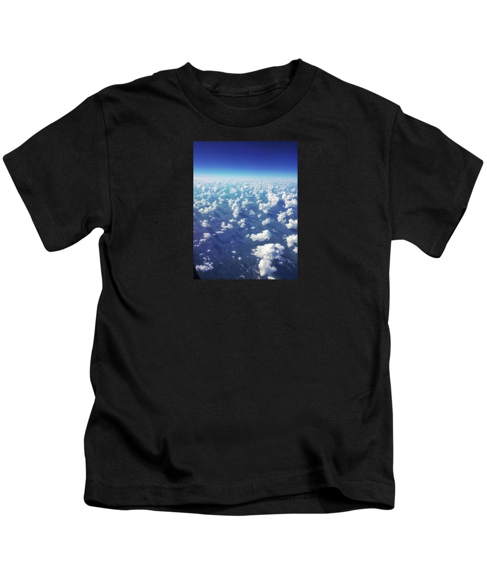 Clouds Kids T-Shirt featuring the photograph Cotton Clouds by Braden Moran
