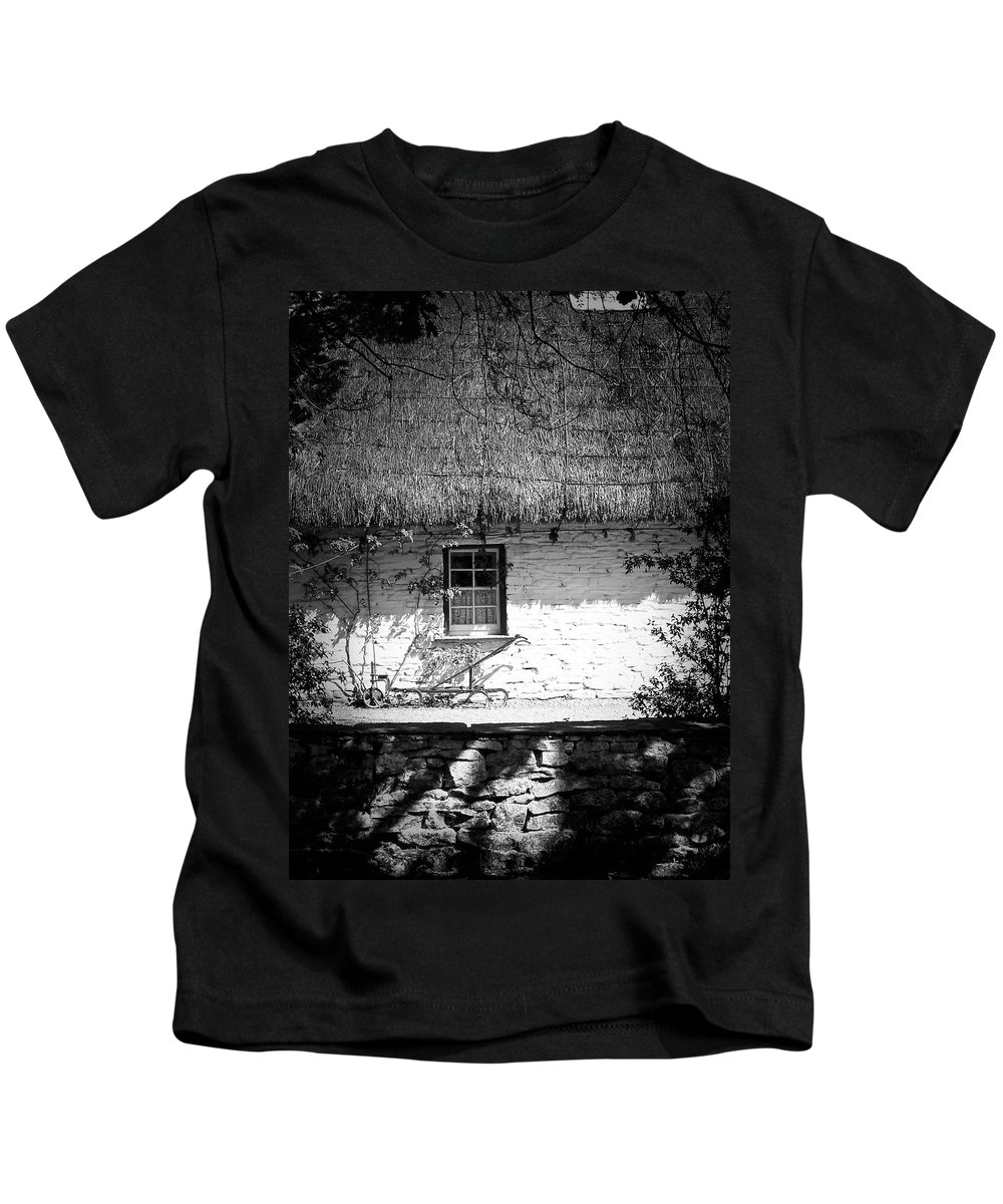 Irish Kids T-Shirt featuring the photograph County Clare Cottage Ireland by Teresa Mucha