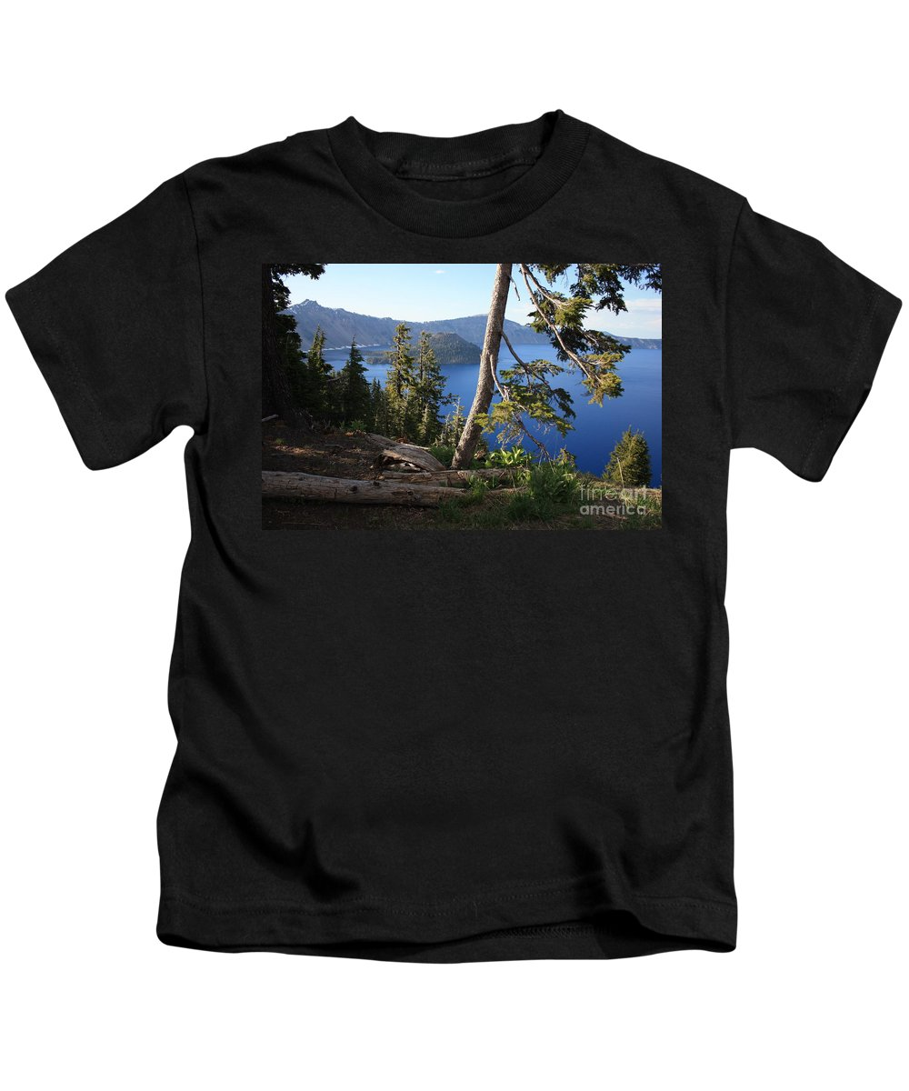 Crater Lake Kids T-Shirt featuring the photograph Crater Lake 9 by Carol Groenen