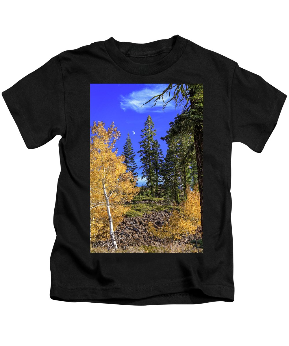 Landscape Kids T-Shirt featuring the photograph Crater Moon by James Eddy