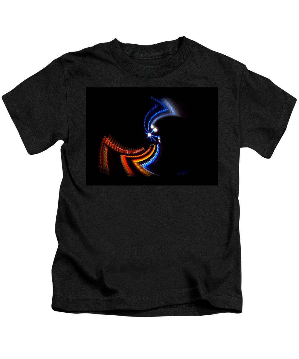 Chaos Kids T-Shirt featuring the photograph Crazy Dancer by Charles Stuart