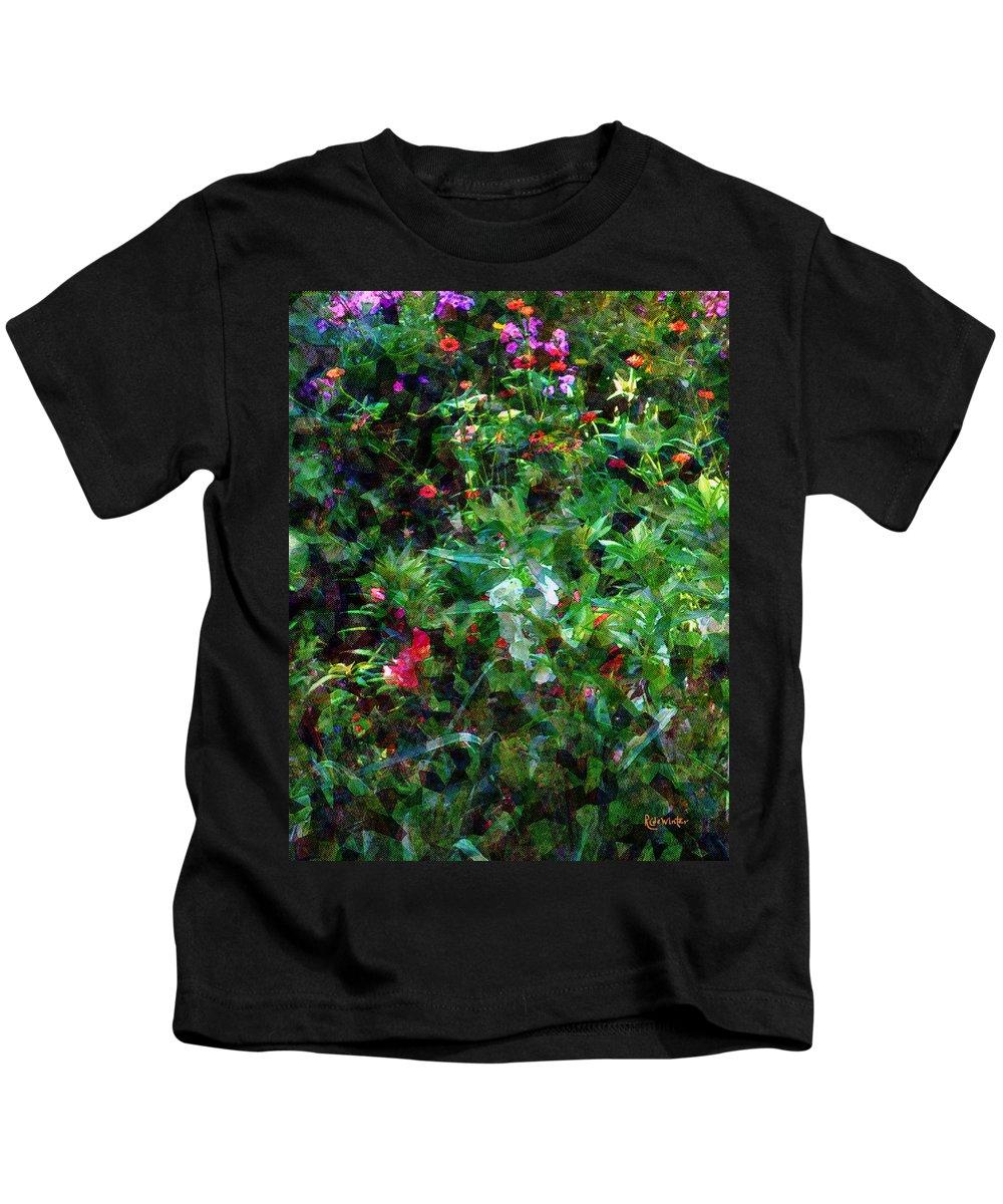 Garden Kids T-Shirt featuring the digital art Crazyquilt Garden by RC DeWinter
