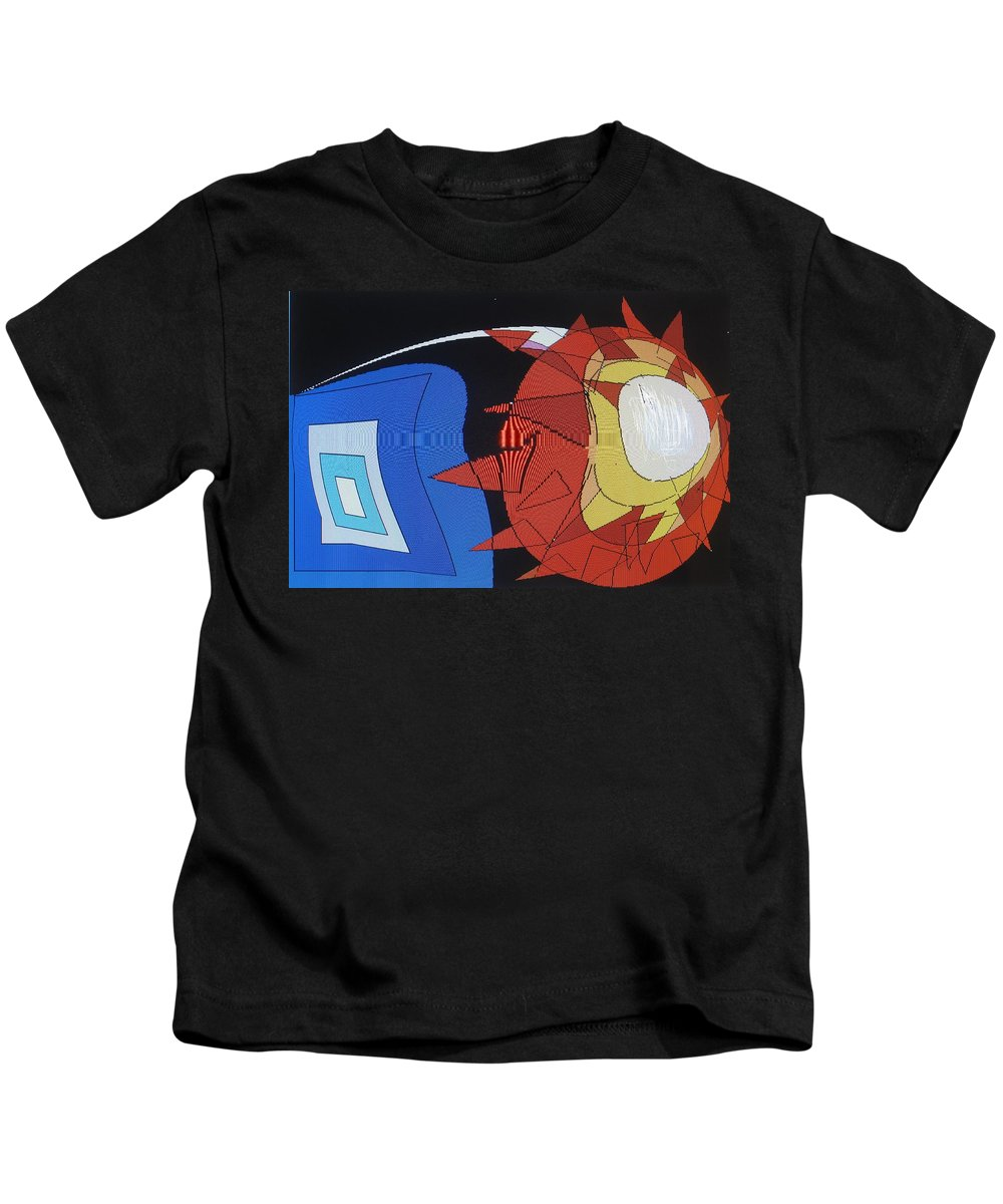 Abstract Kids T-Shirt featuring the digital art Crescendo One by Ian MacDonald