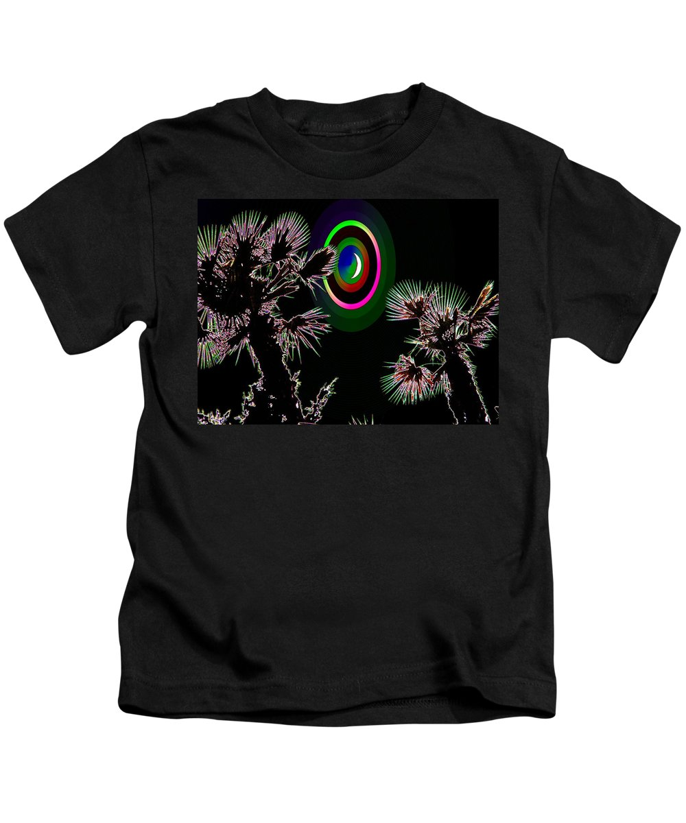 Crescent Kids T-Shirt featuring the photograph Crescent And Palms 3 by Tim Allen