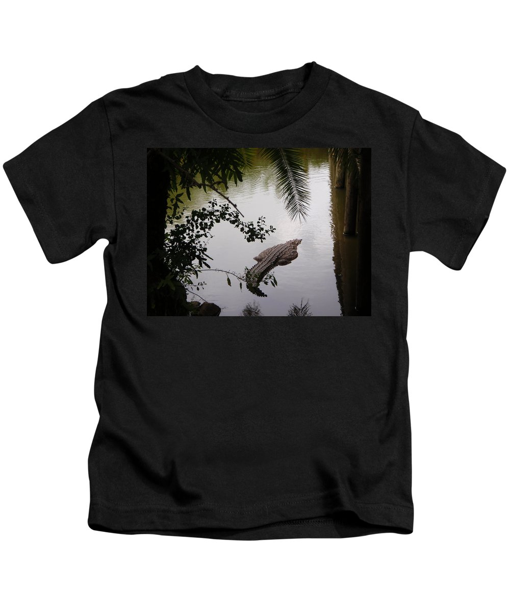 Croco Kids T-Shirt featuring the photograph Croco by Are Lund
