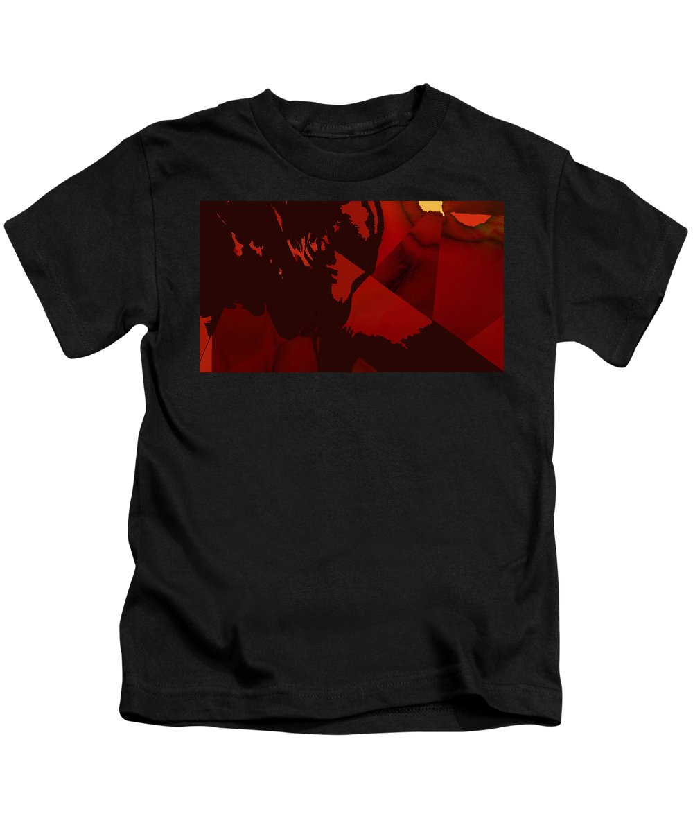 Abstract Kids T-Shirt featuring the digital art Crossing Over by Ian MacDonald
