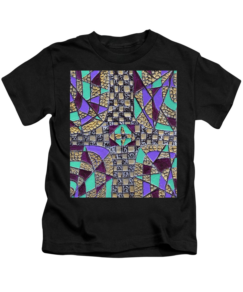 Abstract Kids T-Shirt featuring the painting Crossing Over by Wayne Potrafka