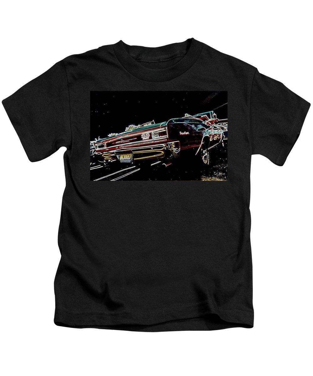 Djphoto Kids T-Shirt featuring the photograph Cruise Night by DJ Florek