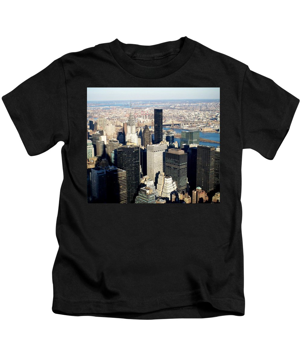 Crystler Building Kids T-Shirt featuring the photograph Crystler Building 2 by Anita Burgermeister
