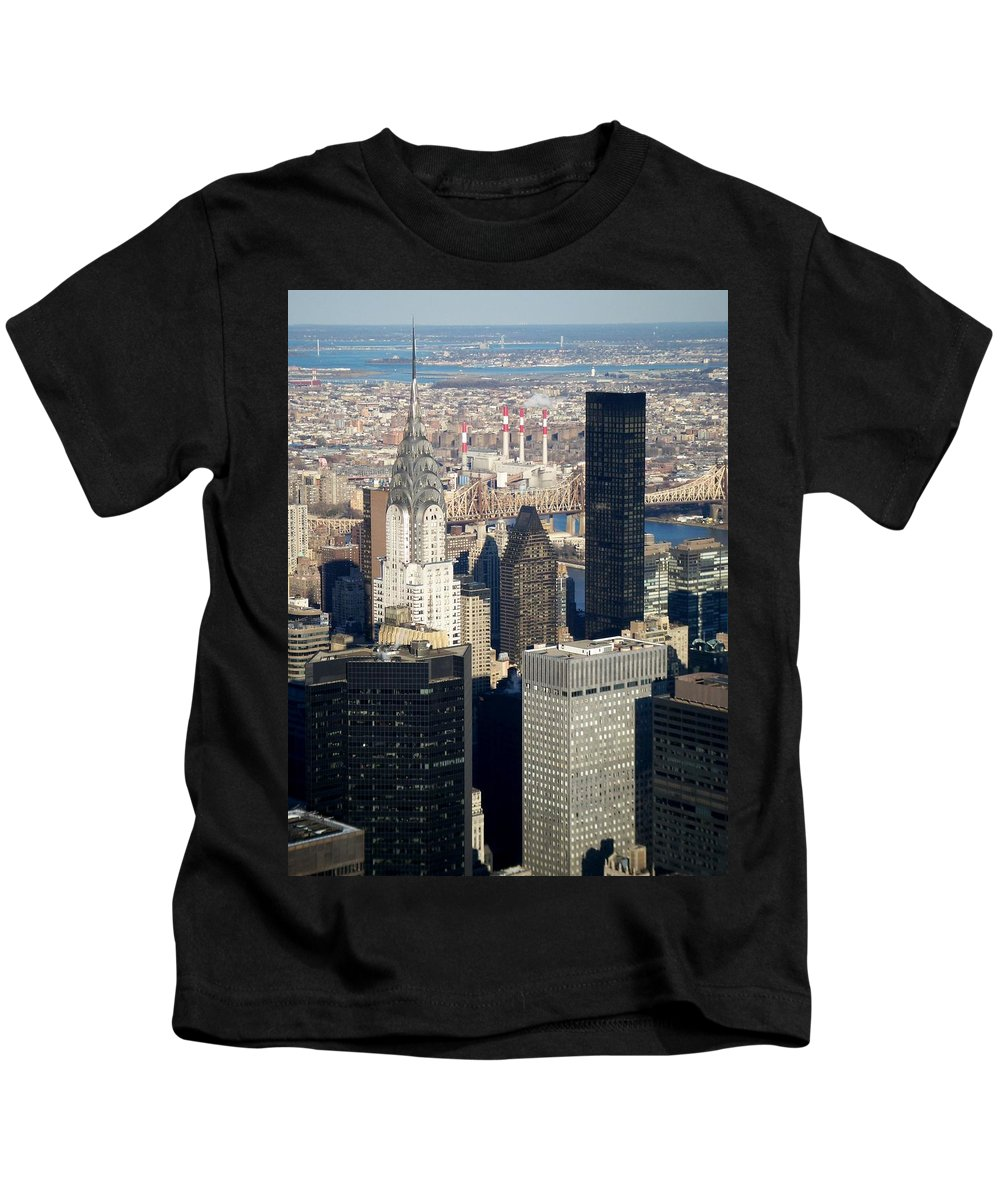 Crystler Building Kids T-Shirt featuring the photograph Crystler Building by Anita Burgermeister