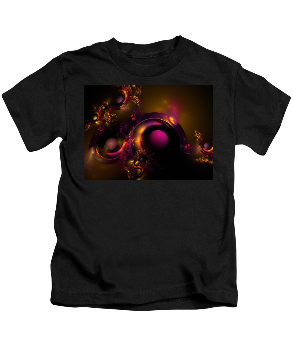 Fractal Kids T-Shirt featuring the digital art Curvy Baby by Lyle Hatch