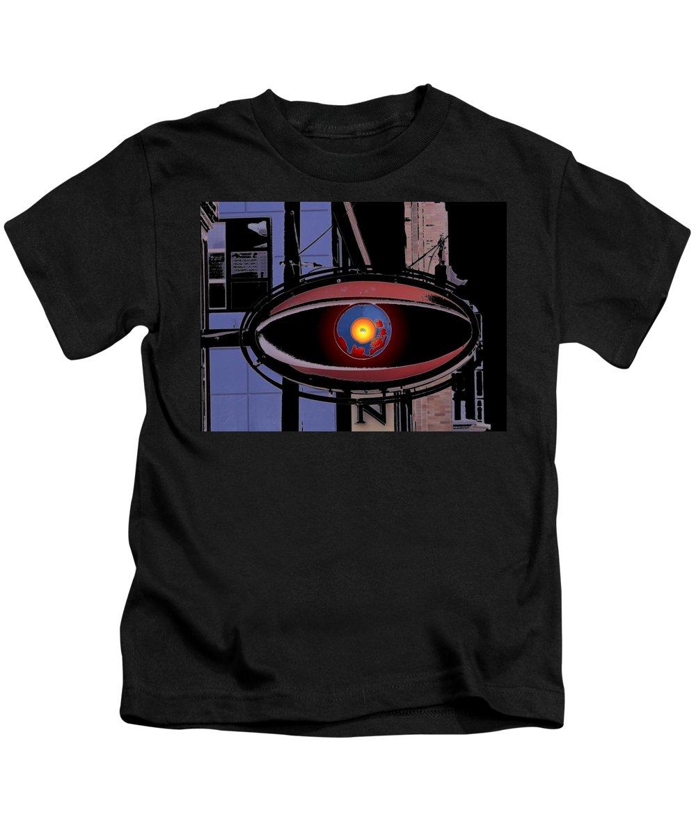 Seattle Kids T-Shirt featuring the digital art Cyclops by Tim Allen