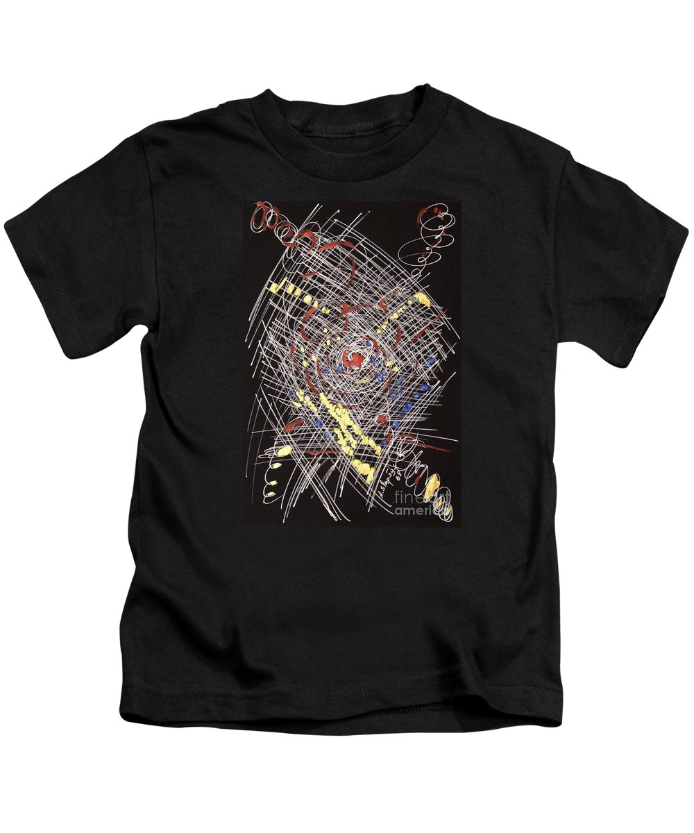 Abstract Kids T-Shirt featuring the drawing D2 by Arturas Slapsys