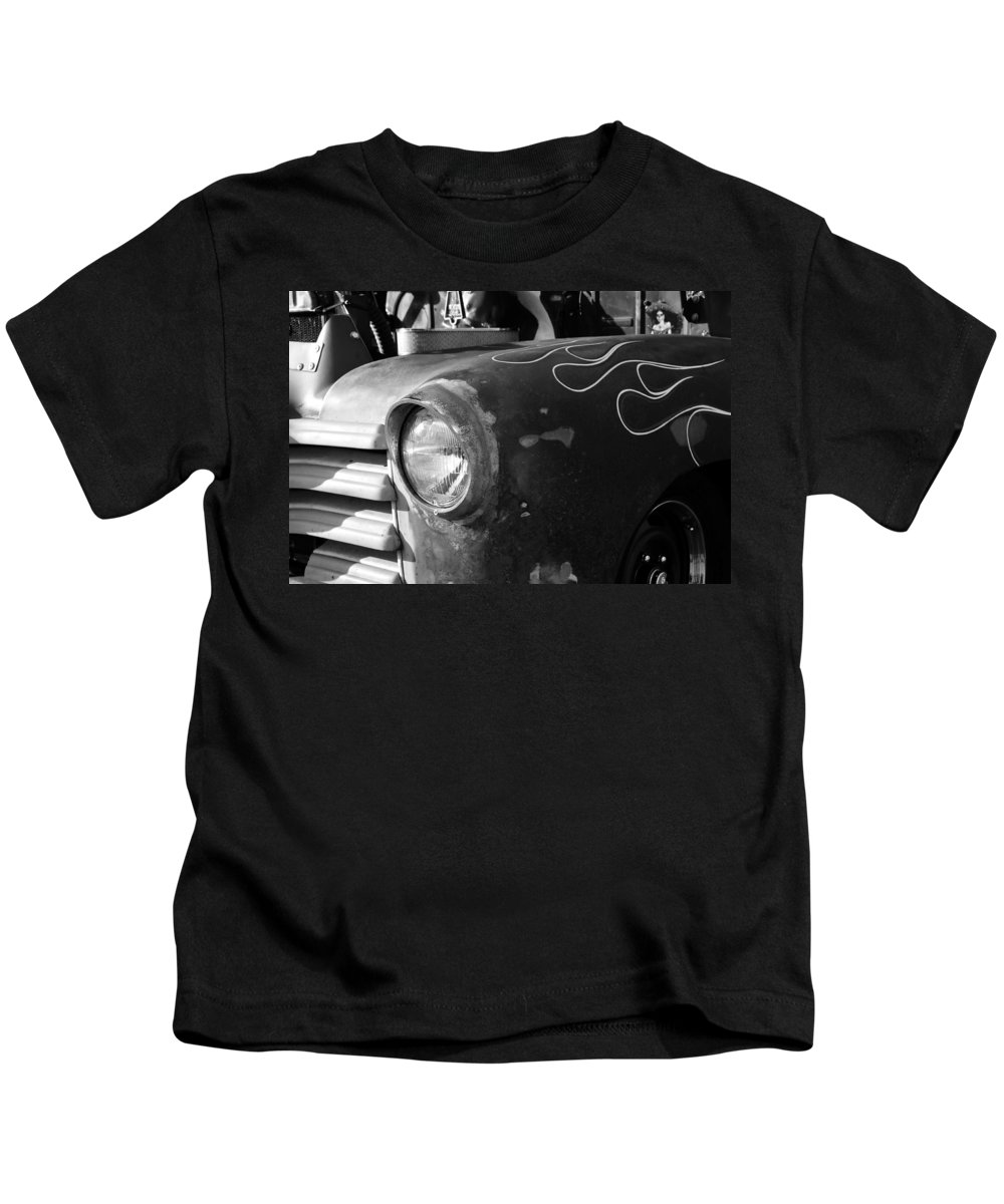Antic Kids T-Shirt featuring the photograph Dad's Old Truck by David Lee Thompson