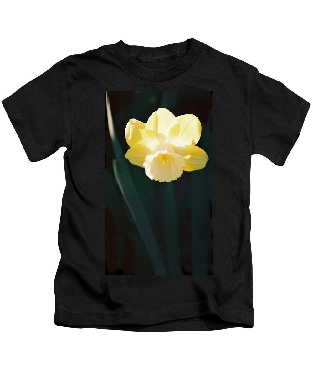Daffodil Kids T-Shirt featuring the photograph Daffodil by Steve Karol