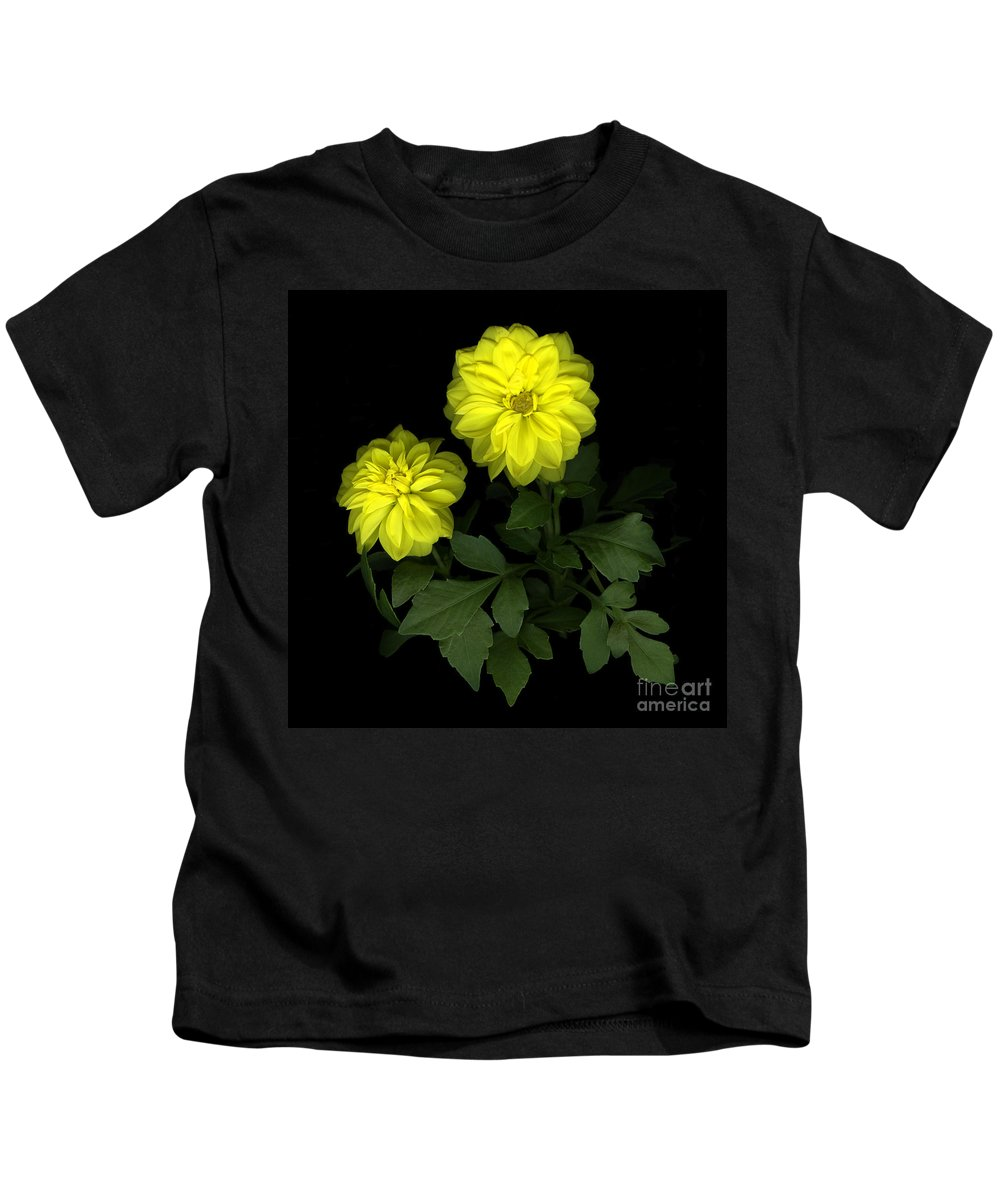 Yellow Kids T-Shirt featuring the photograph Dahlia by Christian Slanec
