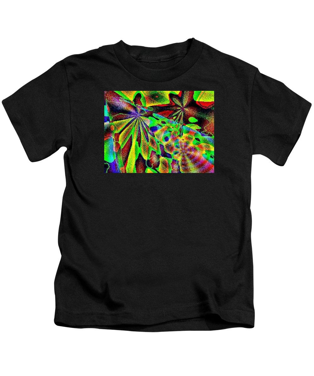 Computer Art Kids T-Shirt featuring the digital art Damselwing by Dave Martsolf