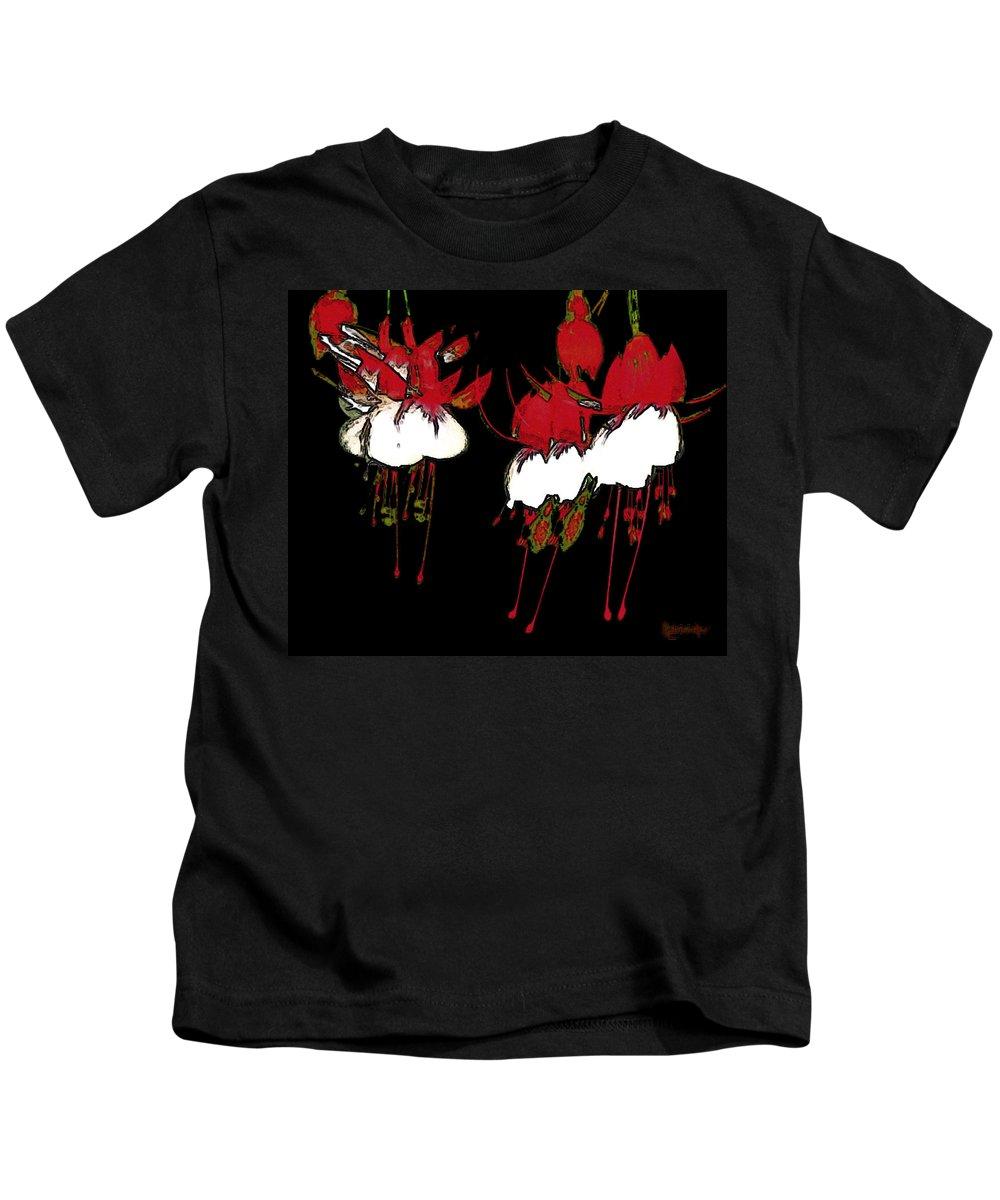 Abstract Kids T-Shirt featuring the digital art Dance Ballerinas Dance by RC DeWinter