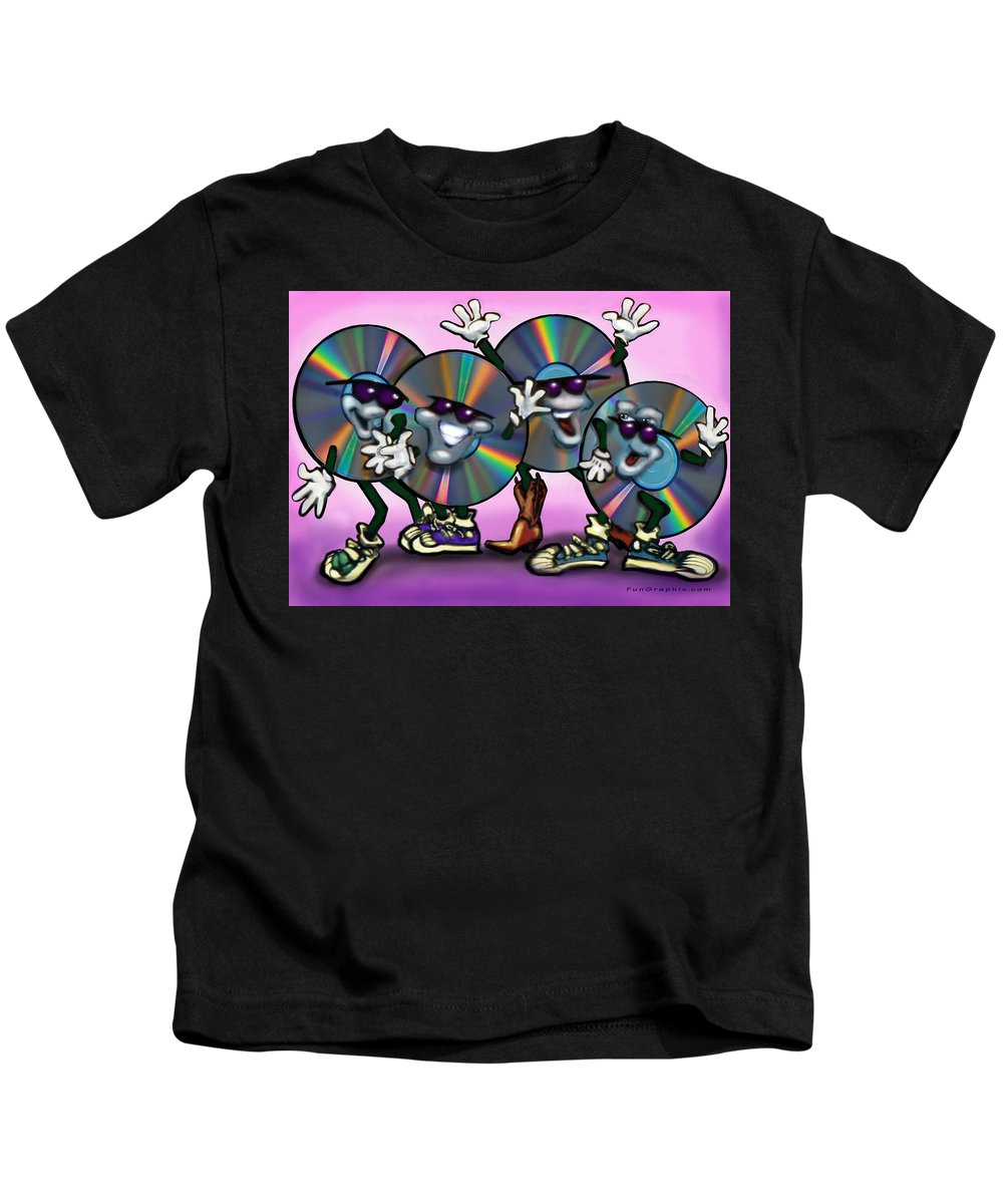 Dance Kids T-Shirt featuring the greeting card Dance Music by Kevin Middleton