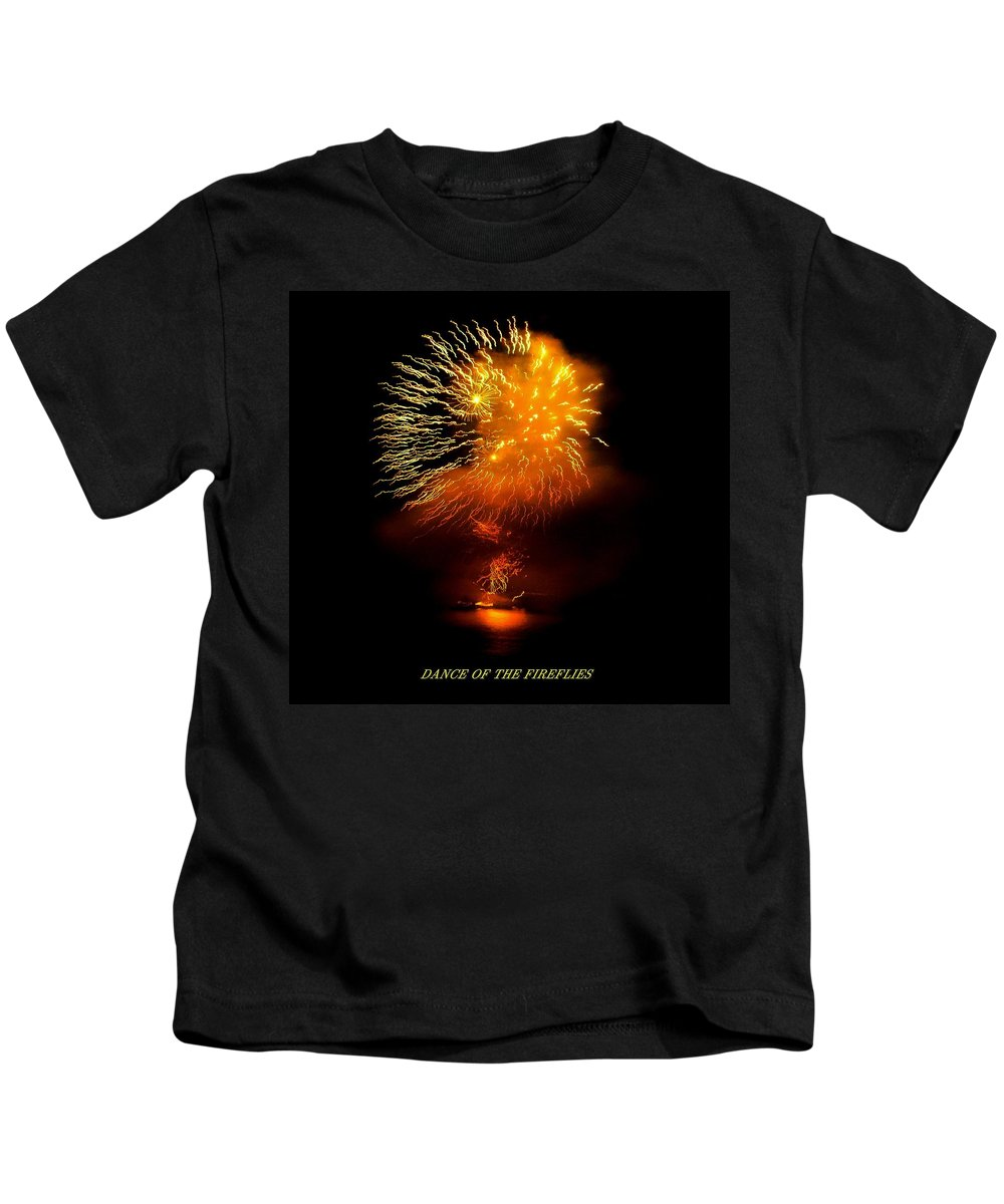 Fireworks Kids T-Shirt featuring the photograph Dance Of The Fireflies by Kendall Eutemey