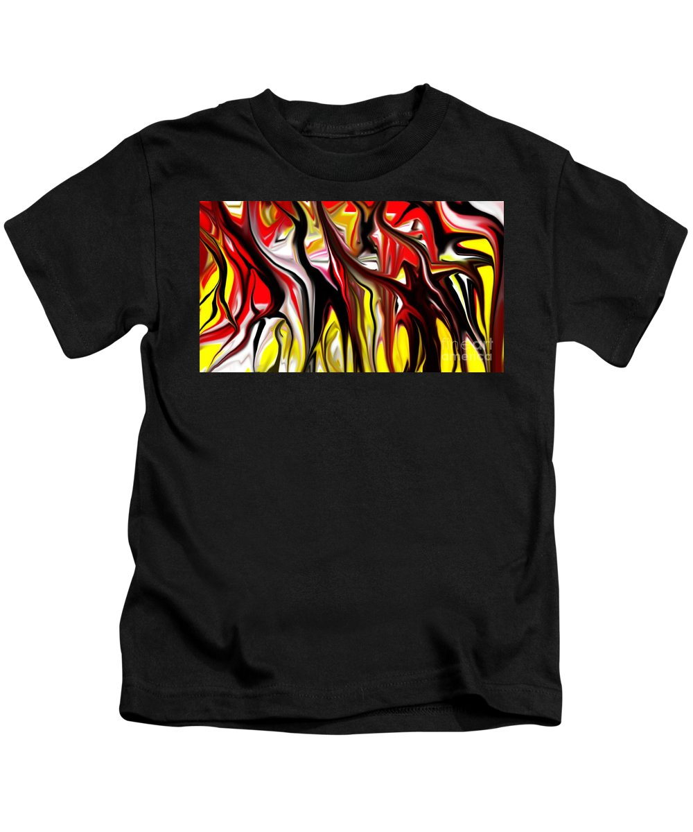 Abstract Kids T-Shirt featuring the digital art Dance Of The Sugar Plum Faries by David Lane