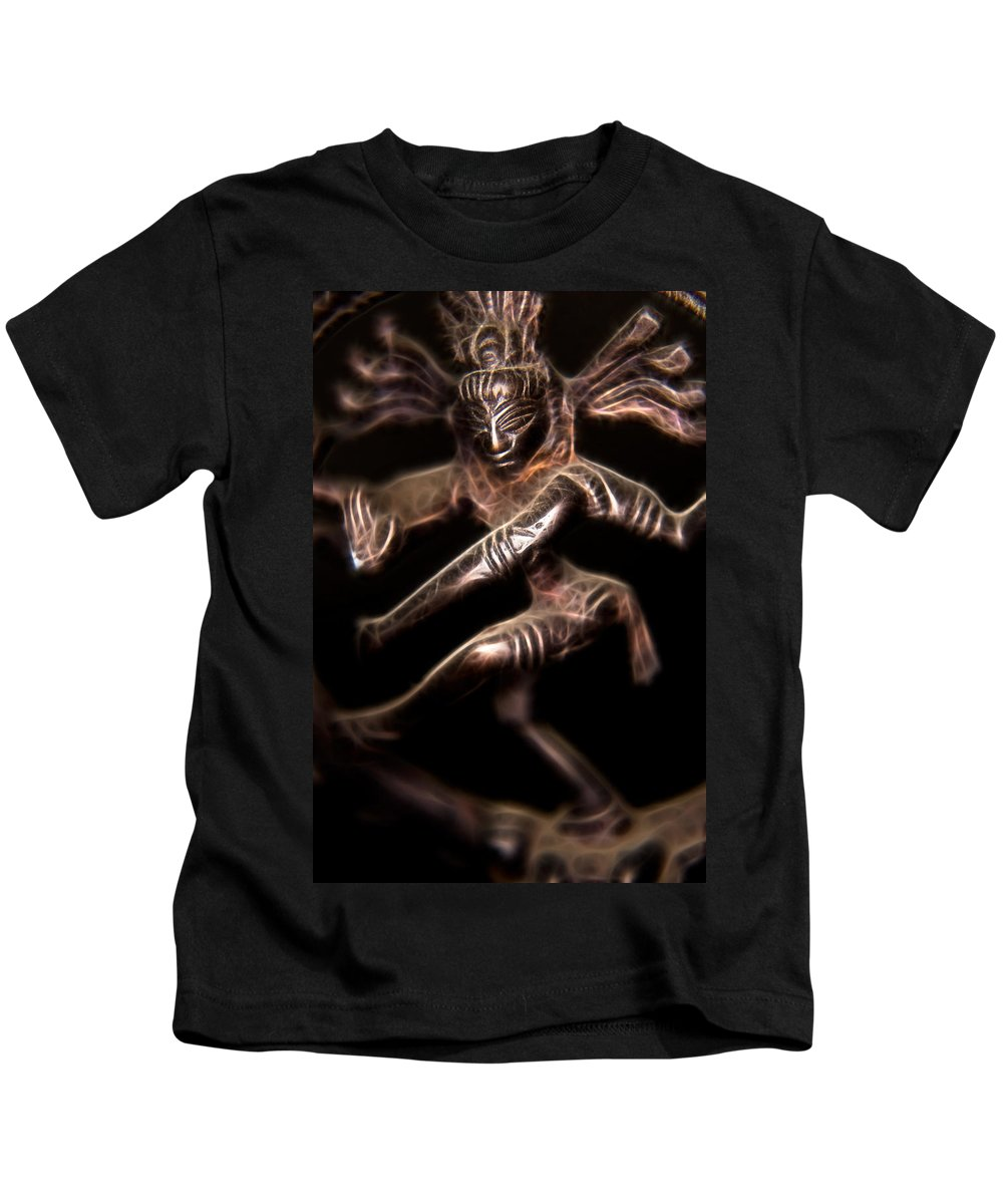 Ayurveda Kids T-Shirt featuring the photograph Dancing Shiva by Rich Leighton