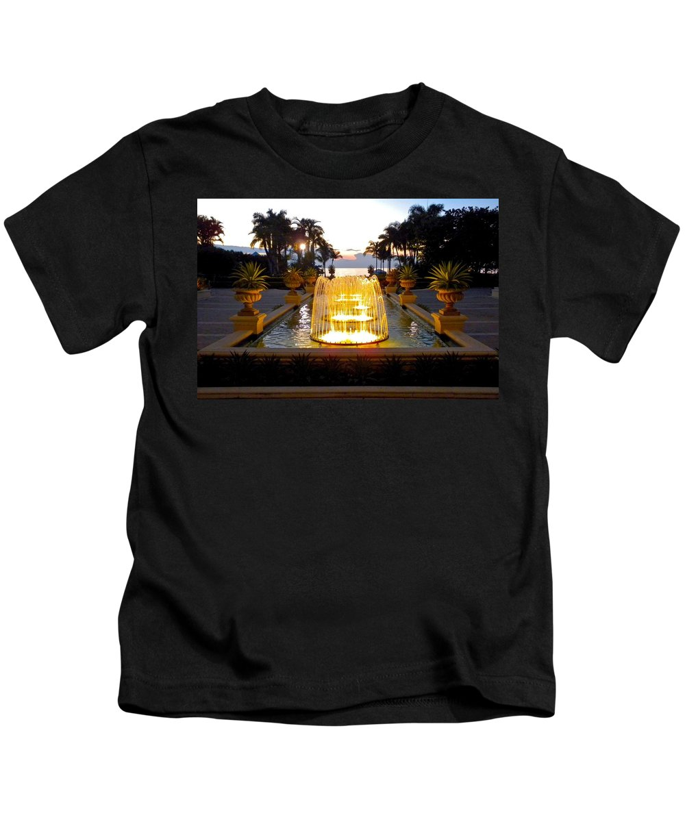 Florida Kids T-Shirt featuring the photograph Dancing Waters by Dale Chapel