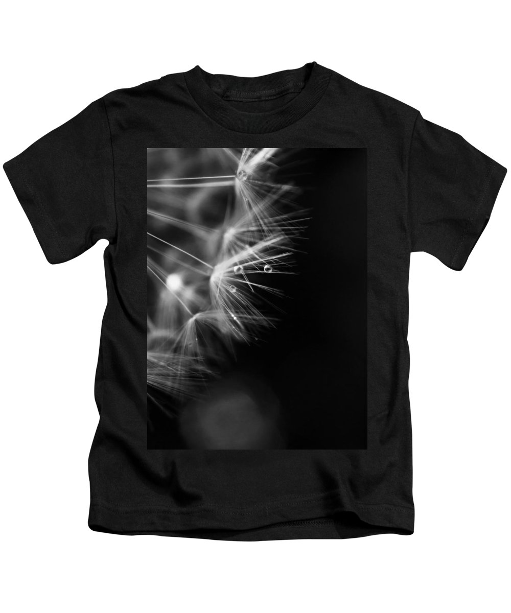 Diamonds Kids T-Shirt featuring the photograph Dandelion 2 Bw by Alex Art and Photo